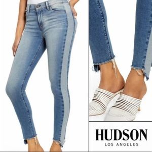Hudson Barbara Headliner Skinny Jean Raw Hem Fray